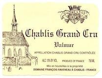 Domaine Raveneau Chablis Grand Cru Valmur label