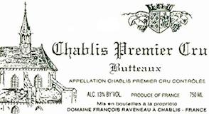 Domaine Raveneau Chablis Premier Cru Butteaux label