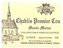 Domaine Raveneau Chablis Premier Cru Montmains label