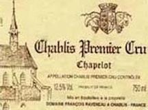 Domaine Raveneau Chablis Premier Cru Chapelot label
