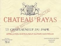 Château Rayas Châteauneuf-du-Pape  label