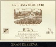 Remelluri Rioja  Gran Reserva label