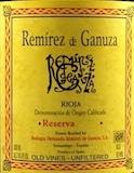 Bodegas Fernando Remírez de Ganuza Rioja  Reserva label