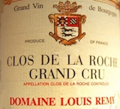 Domaine Chantal Rémy (ex Louis Rémy) Clos de la Roche Grand Cru  label
