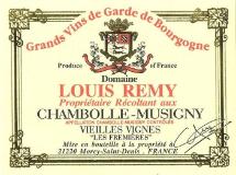 Domaine Chantal Rémy (ex Louis Rémy) Chambolle-Musigny Les Fremières label
