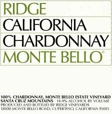 Ridge Vineyards Chardonnay label