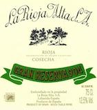 La Rioja Alta Rioja 904 Gran Reserva label