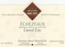Domaine Daniel Rion et Fils Echezeaux Grand Cru  label
