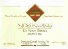Domaine Daniel Rion et Fils Nuits-Saint-Georges Premier Cru Les Vignes Rondes label