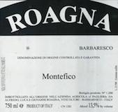 Roagna Barbaresco Montefico Vecchie Viti label