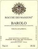 Rocche Dei Manzoni Barolo Vigna d'la Roul label