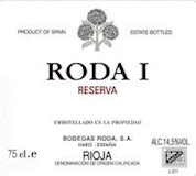 Bodegas Roda Rioja Roda I Reserva label