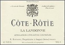 René Rostaing Côte Rôtie La Landonne label