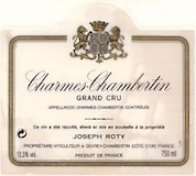 Domaine Joseph Roty Charmes-Chambertin Grand Cru Très Vieilles Vignes label