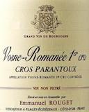 Emmanuel Rouget Vosne-Romanée Premier Cru Cros Parantoux label