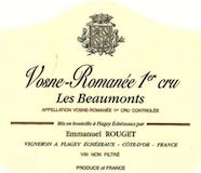Emmanuel Rouget Vosne-Romanée Premier Cru Les Beaux Monts label