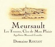 Domaine Roulot Meursault Les Tessons Clos de Mon Plaisir label