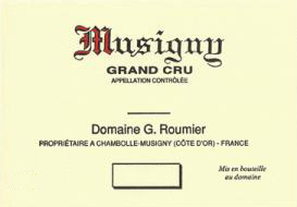 Domaine Georges (or Christophe) Roumier Musigny Grand Cru  label