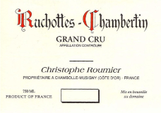 Domaine Georges (or Christophe) Roumier Ruchottes-Chambertin Grand Cru  label
