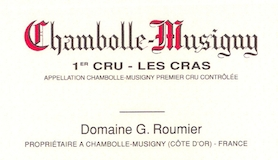 Domaine Georges (or Christophe) Roumier Chambolle-Musigny Premier Cru Les Cras label