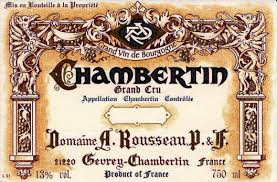 Domaine Armand Rousseau Chambertin Grand Cru  label