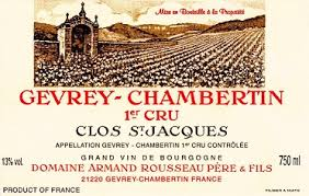 Domaine Armand Rousseau Gevrey-Chambertin Premier Cru Clos Saint-Jacques label