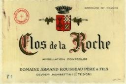 Domaine Armand Rousseau Clos de la Roche Grand Cru  label