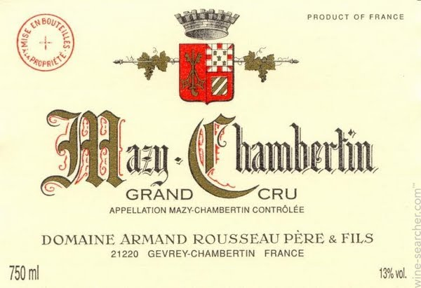 Domaine Armand Rousseau Mazis-Chambertin Grand Cru  label