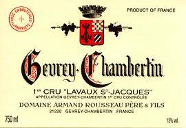 Domaine Armand Rousseau Gevrey-Chambertin Premier Cru Lavaux Saint-Jacques label