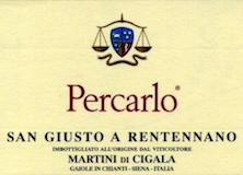 San Giusto a Rentennano Percarlo label