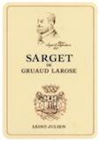 Château Gruaud-Larose Sarget de Gruaud Larose label