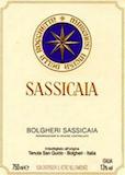 Tenuta San Guido Sassicaia label