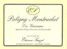 Étienne Sauzet Puligny-Montrachet Premier Cru La Garenne label