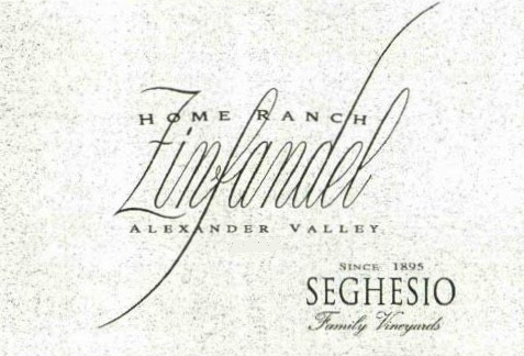 Seghesio Home Ranch Zinfandel label