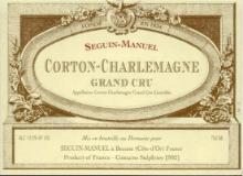 Seguin-Manuel Corton-Charlemagne Grand Cru  label