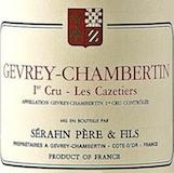 Domaine Sérafin Père et Fils Gevrey-Chambertin Premier Cru Les Cazetiers label
