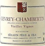 Domaine Sérafin Père et Fils Gevrey-Chambertin Vieilles vignes label