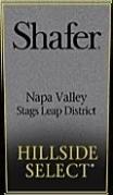 Shafer Vineyards Hillside Select Cabernet Sauvignon label