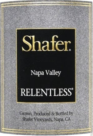 Shafer Vineyards Relentless label