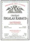 Château Sigalas-Rabaud  Premier Cru label
