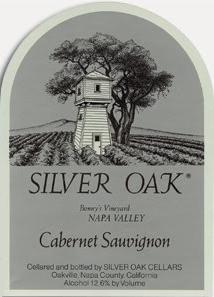 Silver Oak Cabernet Sauvignon label