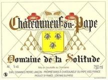 Domaine de la Solitude Châteauneuf-du-Pape  label