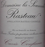 Domaine de la Soumade Rasteau Fleur de Confiance label