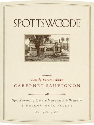 Spottswoode Cabernet Sauvignon label