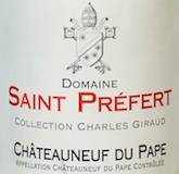 Domaine Saint-Préfert Châteauneuf-du-Pape Collection Charles Giraud label