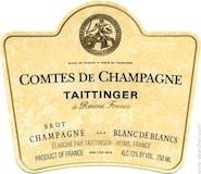 Taittinger Comtes de Champagne Blanc de Blancs Grand Cru label