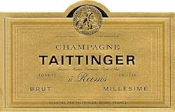 Taittinger Brut Millésimé label
