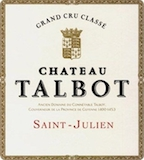 Château Talbot  Quatrième Cru label