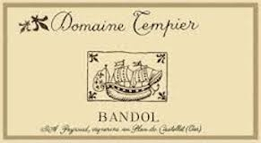 Domaine Tempier Bandol  label