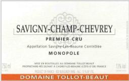 Domaine Tollot-Beaut et Fils Savigny-lès-Beaune Premier Cru Savigny-Champ-Chevrey label